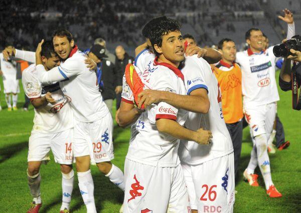 Игроки парагвайского футбольного клуба Насьональ