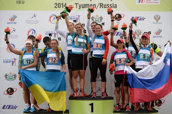Летний биатлон. Чемпионат мира. Смешанная эстафета