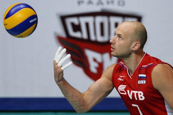 Нападающий сборной России Николай Павлов