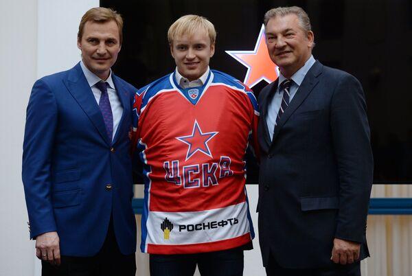 Сергей Федоров, Григорий Панин и Владислав Третьяк (слева направо)