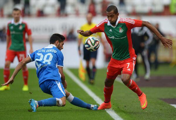 Игровой момент матча Локомотив - Аполлон