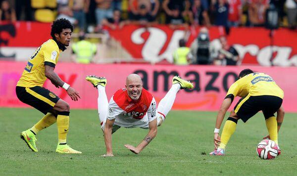 Игровой момент матча Монако - Лилль