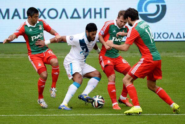 Александр Самедов, Халк, Роман Шишкин и Ведран Чорлука (слева направо)