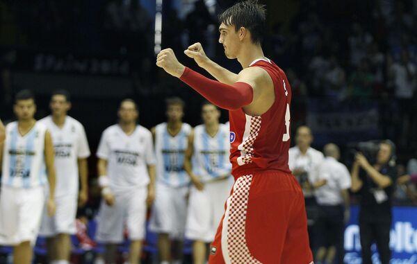 Форвард сборной Хорватии по баскетболу Дарио Сарич
