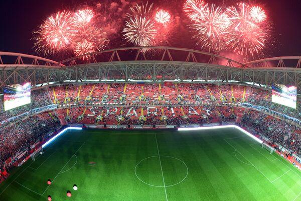 Салют над стадионом Открытие Арена