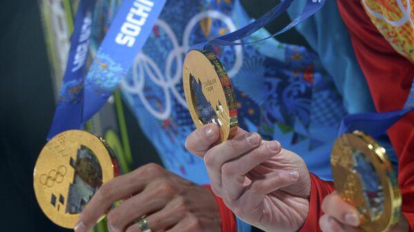 Золотые медали российских спортсменов