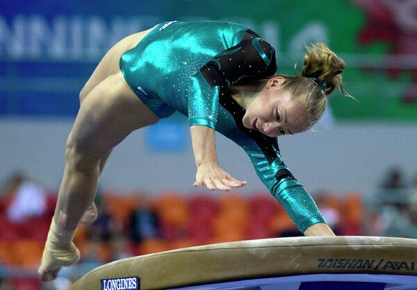 Российская гимнастка Алла Сосницкая