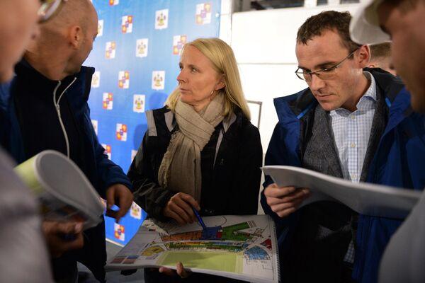 Инспекционный визит ФИФА и оргкомитета Россия-2018 на Фишт