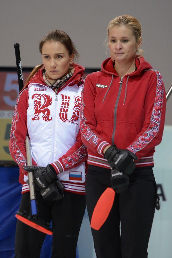 Игроки сборной команды Россия-1 Анна Сидорова (слева) и Маргарита Фомина