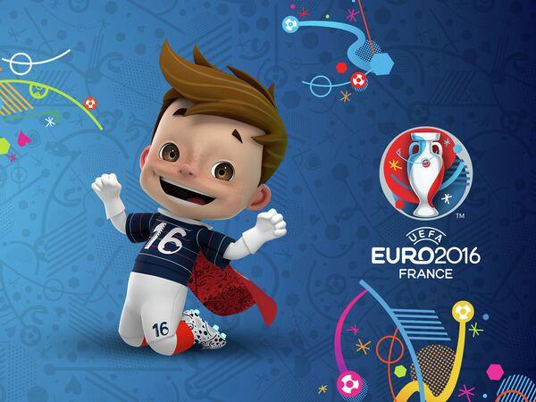 Мальчик в красном плаще - талисман чемпионата Европы по футболу 2016 года
