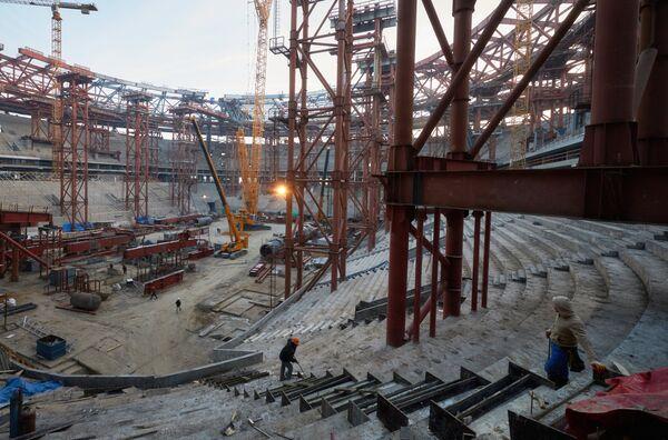 Строительство стадиона Зенит-АренаСтроительство стадиона Зенит-Арена