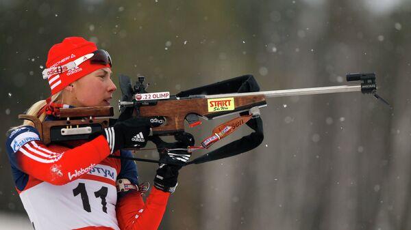 Российская биатлонистка Ольга Якушова