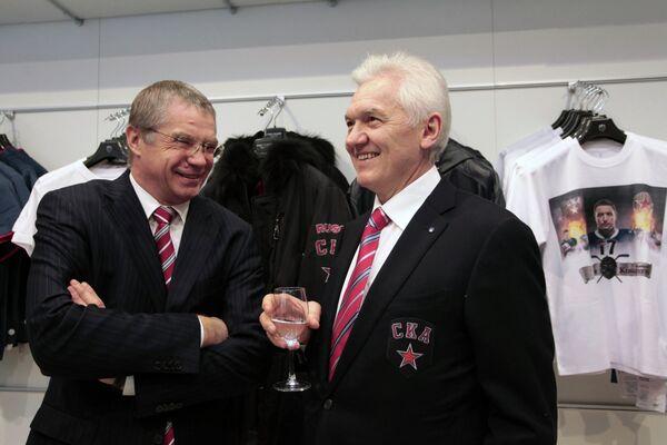 Александр Медведев и Геннадий Тимченко (справа)