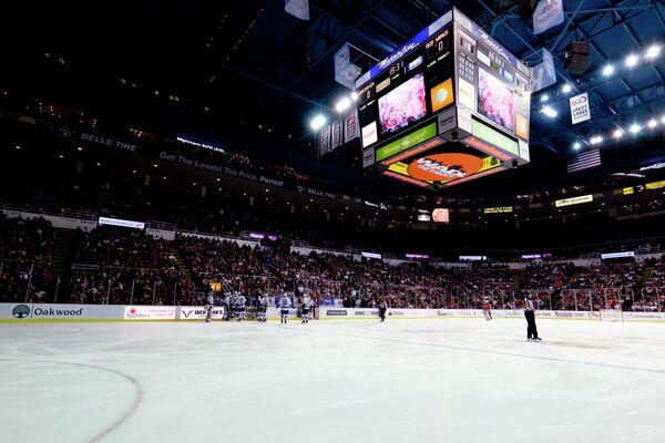 Игровой момент матча Детройт - Ванкувер