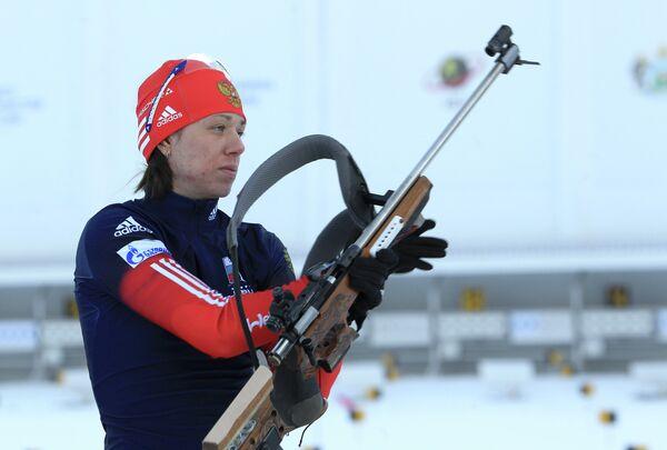Российская биатлонистка Евгения Волкова