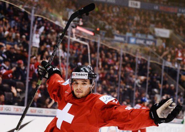 Игрок сборной Швейцарии Лука Фаццини