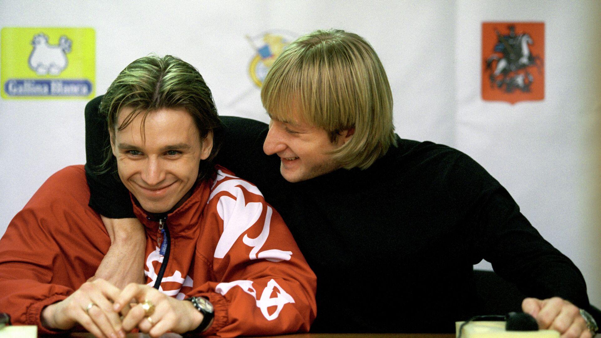 Александр Абт (слева) и Евгений Плющенко - РИА Новости, 1920, 16.02.2021