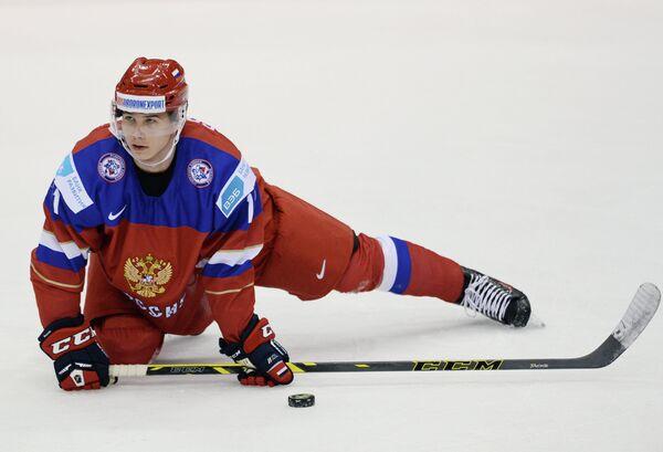 Нападающий молодежной сборной России Николай Голдобин