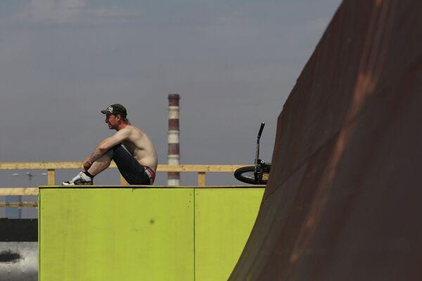 Участник соревнований по BMX