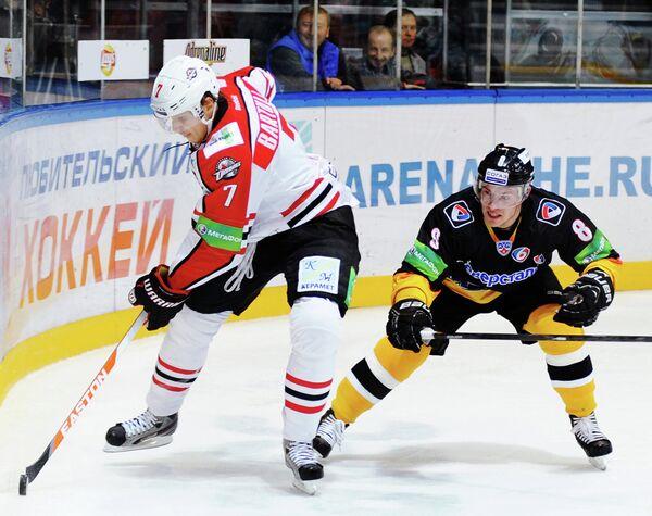 Игровой момент матча Северсталь - Донбасс