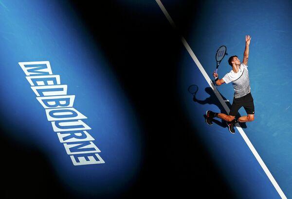 Григор Димитров в матче второго круга Australian Open