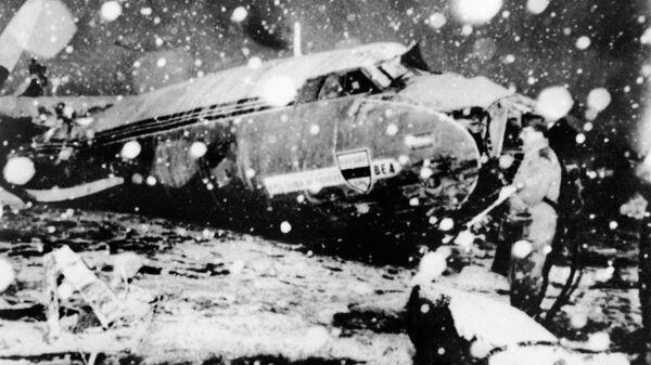 Самолет с командой Манчестер Юнайтед на борту, разбившийся 6 февраля 1958 года в мюнхенском аэропорту