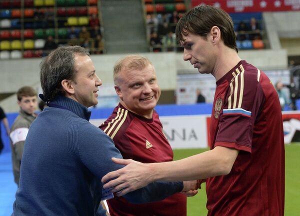 Аркадий Дворкович, Сергей Кирьяков и Егор Титов (слева направо)