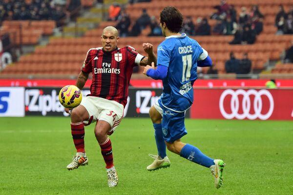Игровой момент матча Милан - Эмполи