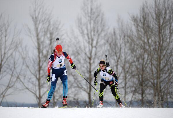 Екатерина Шумилова (Россия) и Колин Варсен (Франция) (слева направо)
