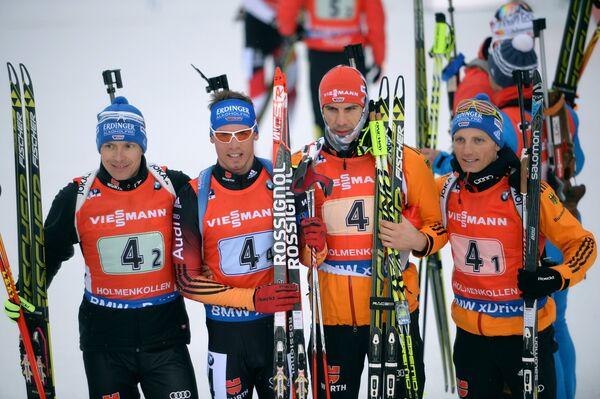 Андреас Бирнбахер, Симон Шемпп, Арнд Пайффер и Эрик Лессер (Германия) (слева направо)