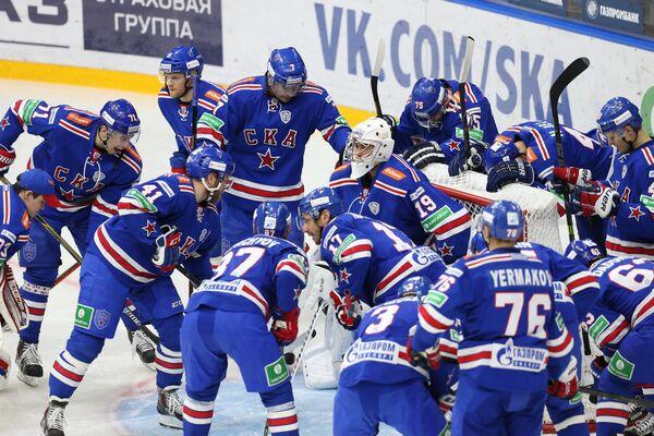 Игровой момент матча СКА - Йокерит