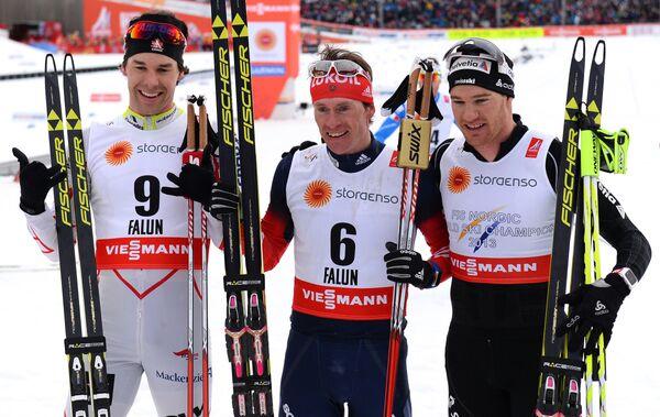 Алекс Харви, Максим Вылегжанин и Дарио Колонья (слева направо)