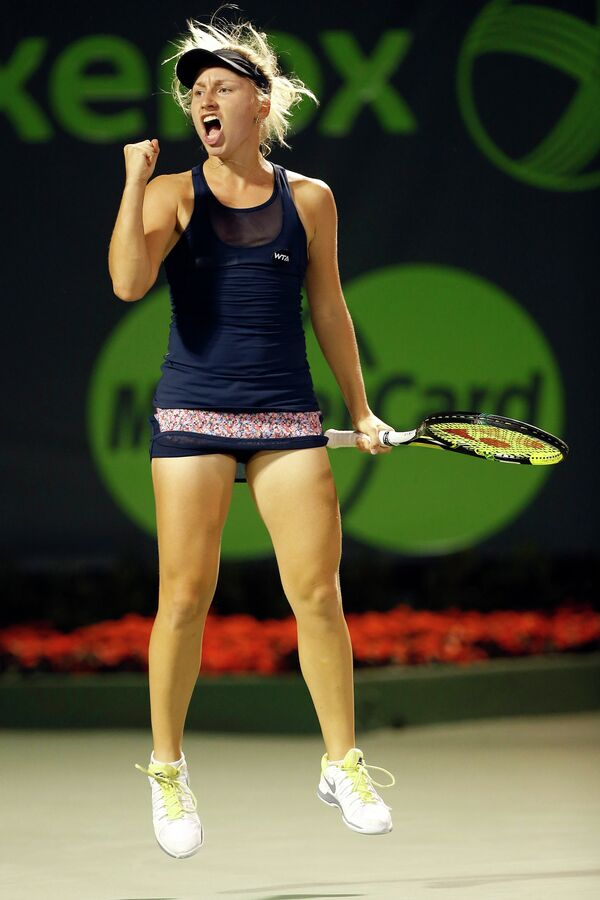 Дарья Гаврилова на теннисном турнире в Майами