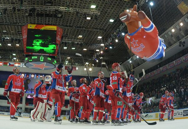 Хоккеисты ЦСКА благодарят болельщиков