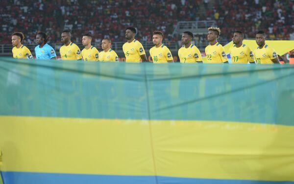 Сборная Габона и национальный флаг