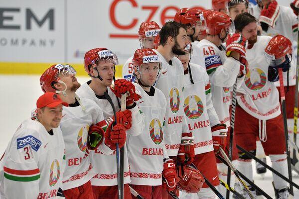 Игроки сборной Белоруссии по хоккею