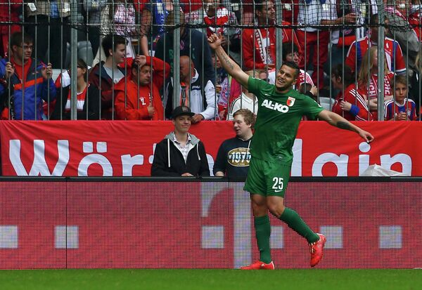 Нападающий немецкого футбольного клуба Аугсбург Рауль Бобадилья