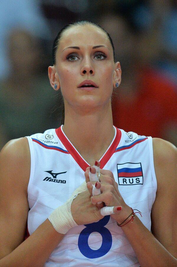 Диагональная сборной России Наталья Обмочаева (Гончарова)