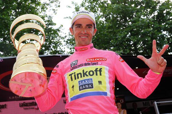 Велогонщик Tinkoff-Saxo Альберто Контадор