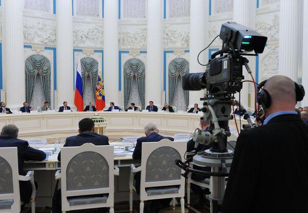 Заседание Совета при президенте РФ по развитию физической культуры и спорта
