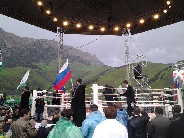 Турнир ММА Битва в горах в Таргиме (Республика Ингушетия)