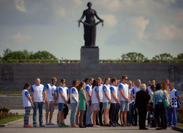 Сборная России по плаванию в Петергофе