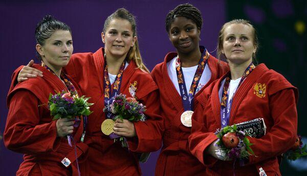 Ольга Намазова (Белоруссия), Ивана Яндрич (Сербия), Селин Конде (Франция), Ольга Захарцова (Россия) (слева направо)