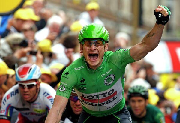 Андреас Грейпель на пятом этапе Тур де Франс