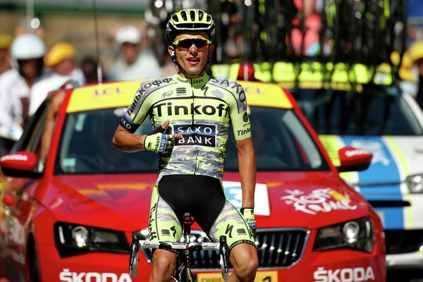 Рафал Майка на финише 11-го этапа Тур де Франс