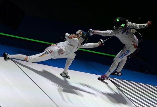 Слева направо: Эмма Самуэльссон (Швеция) и Росселла Фьяминго (Италия)