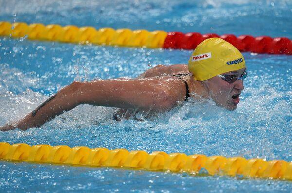 Шведская пловчиха Сара Шёстрем