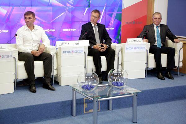Юрий Ветоха, Александр Красильников, Николай Горник (слева направо)