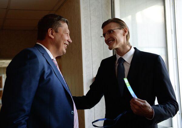 Андрей Кириленко (справа) и министр спорта Нижегородской области Сергей Панов