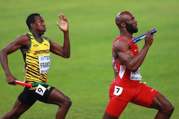 Явон Френсис (Ямайка) (слева) и Лашон Мерритт (США)